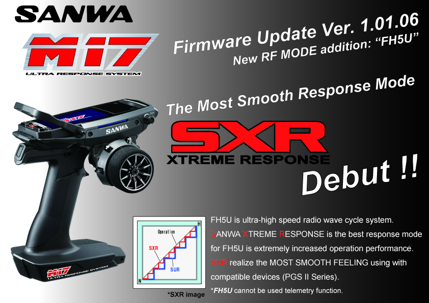 New Firmware for M17 and PGS2 Series for SXR mode